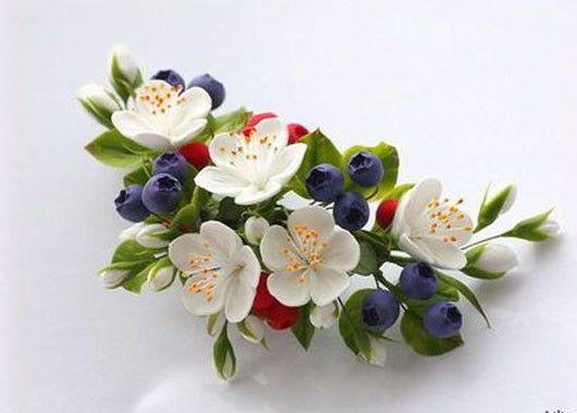 Цветы из фоамирана для заколки своими руками 2