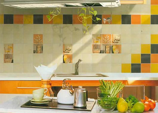 Керамическая плитка для кухни на стену