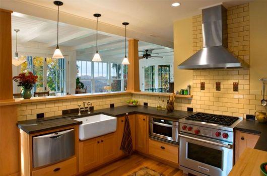 Гипсовая плитка на кухне