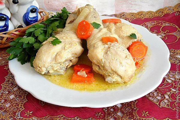 Рецепты курицы в сметанном соусе