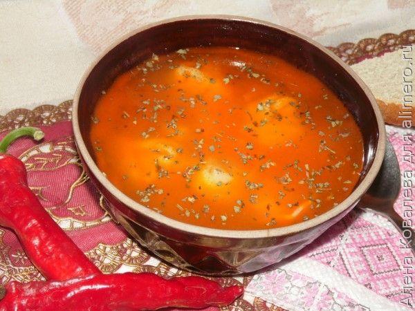 Суп с равиоли