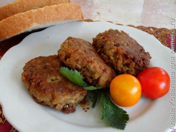 котлеты с мясные с баклажанами