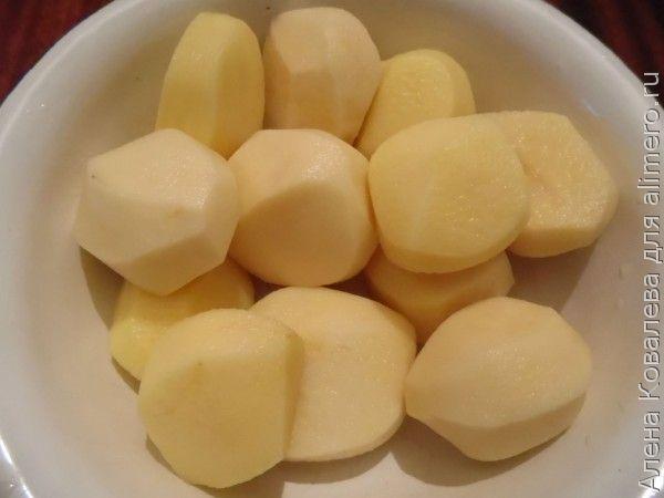 Крем-суп с пельменями