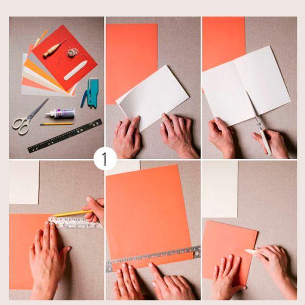 Чтобы сделать гирлянду из бумажных вееров, вам понадобится цветная бумага, линейка, карандаш, ножницы и клей. С помощью линейки сделайте на листе бумаги разметку.