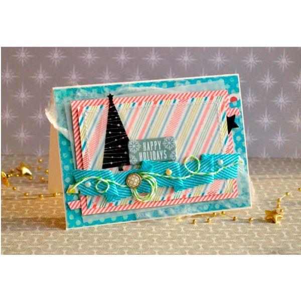 Приступаем к работе. Следует сразу подобрать новогоднюю скрап-бумагу, желательно из одного новогоднего набора, что бы она хорошо сочеталась друг с другом. Так же подготовим марлю или сухую салфетку.