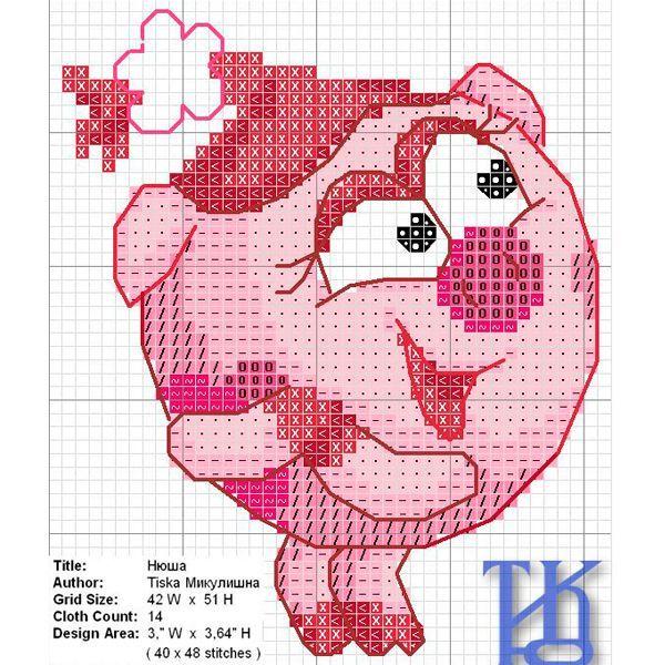 Нюша – симпатичная хрюшка, которая с первого взгляда вызывает симпатию. Ее любимым цветом является розовый. Свинка мечтает стать принцессой, поэтому очень внимательно следит за своей внешностью.