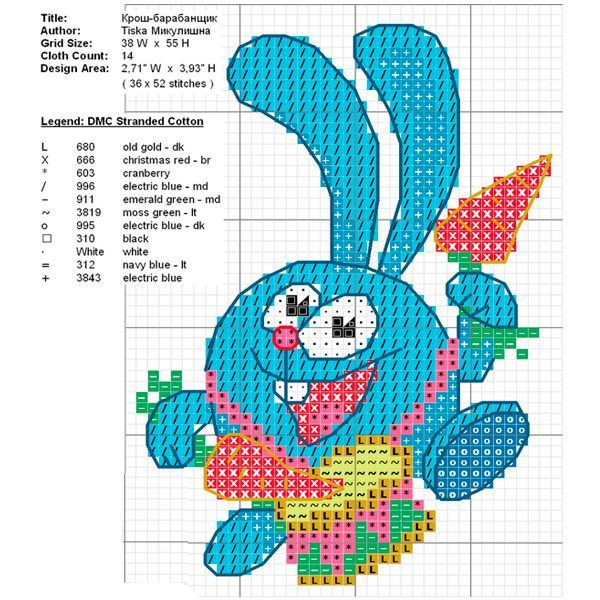 Смешарики — 15 схем вышивки