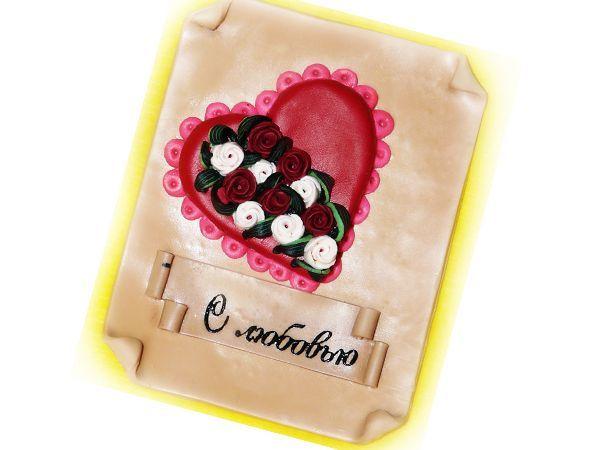 Для изготовления сердечки-валентинки вам понадобится: полимерная глина (пластик), острый нож, зубочистка, скалка или паста-машинка,  доска.