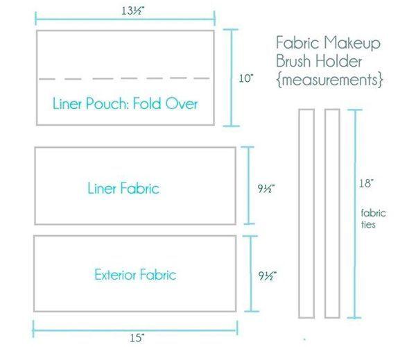 Для пошива используйте эту выкройку. Размер и количество кармашков можно использовать по вашему вкусу.