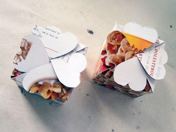 Коробочка с сердечками подойдет для подарка на День Святого Валентина.
