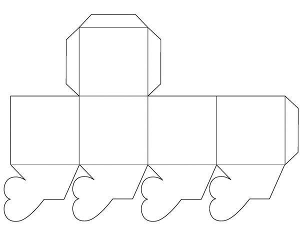 Прежде, чем распечатывать шаблон, измените его размер до необходимого. Вырежьте и склейте.