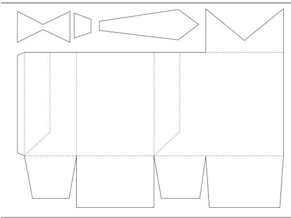 Самое главное - продавить три линии, которые находятся по бокам. Они сходятся в одну точку. Если все линии сгиба хорошо продавлены, коробка сложится хорошо.