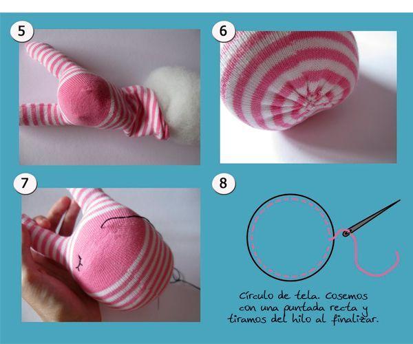 Сшиваем детали. Набиваем наполнителем так, чтобы заготовка была упругой. Сшиваем. Оформляем мордочку.