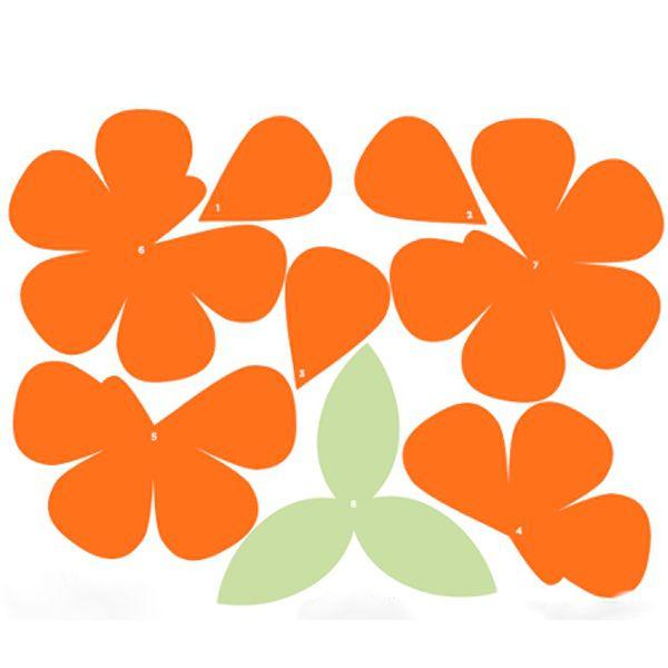 Распечатайте и вырежьте лепестки и листочки будущей розы из бумаги. Обратите внимание на то, что все лепестки и листочки цветка из бумаги розы пронумерованы.