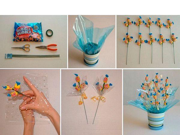 Поделки с конфет с инструкцией