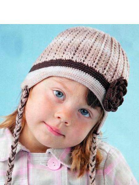 Вязаные шапки для детей — 12 схем