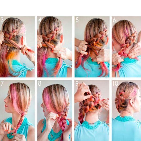 Оригинальные прически с косами — мастер-классы