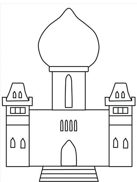 Раскраски замки и дворцы