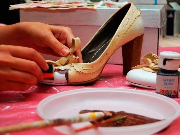 Декор обуви, мастер-классы.