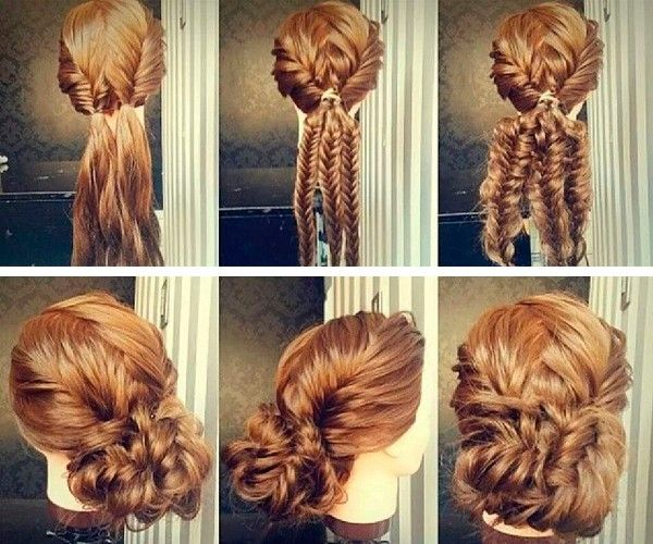 Прически для длинных волос, мастер-классы.