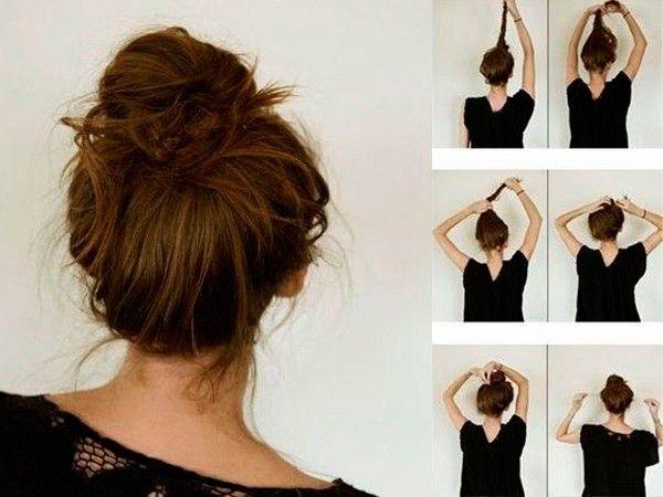 Прически для волос средней длины, мастер-классы.