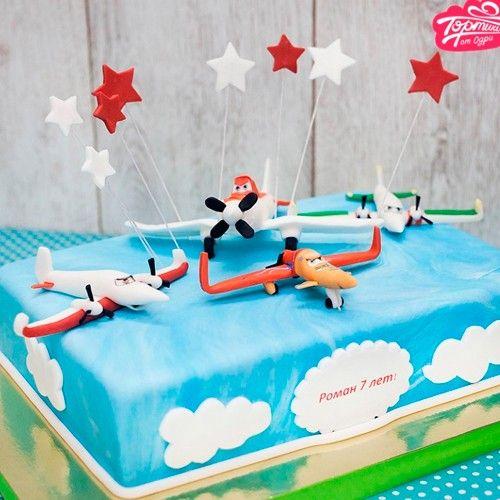 Оформление тортов для мальчиков