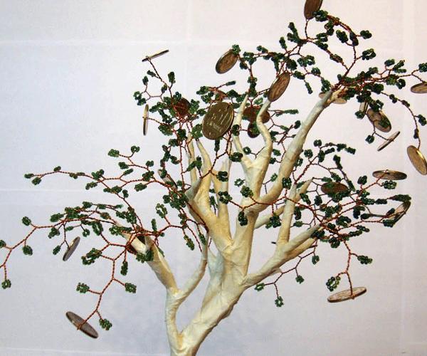 Деревья из бисера, мастер-классы.