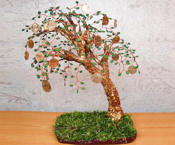Денежный дерево своими руками фото