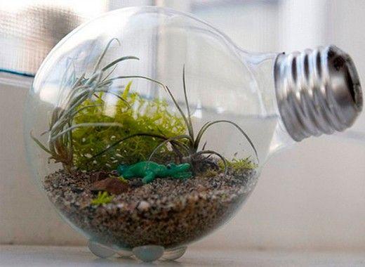 Поделки из лампочек, идеи.
