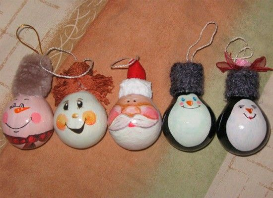 Новогодние игрушки своими руками елка картинки