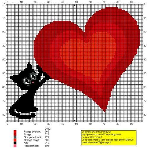 Вышивки крестиком схема сердца 58