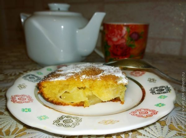 Нежный пирог с ананасами