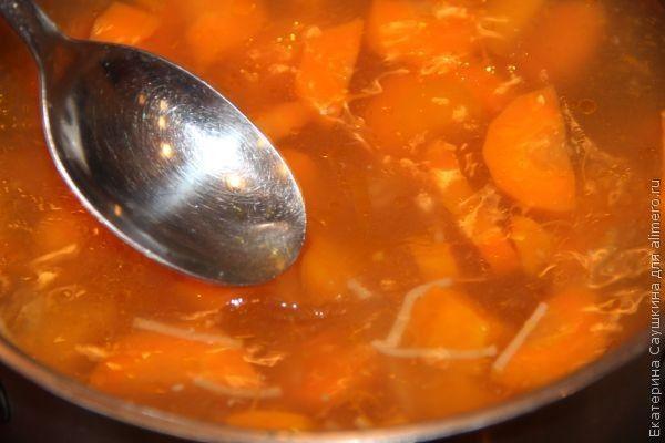 суп с тыквой, морковью, фрикадельками