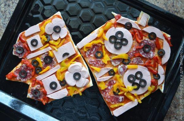 Пицца-домик. Приготовление