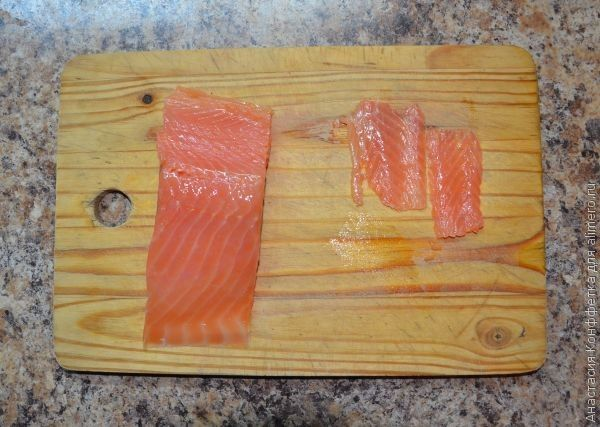 тарталетки с красной рыбой