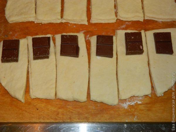 Булочки с шоколадом