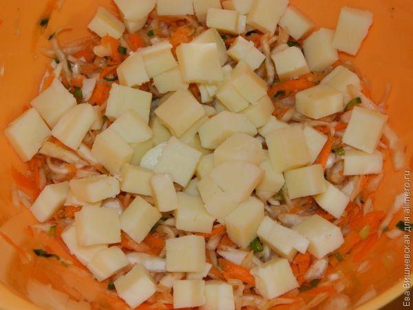 салат с сулугуни