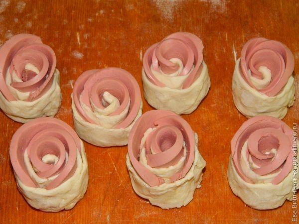 розы с колбасой