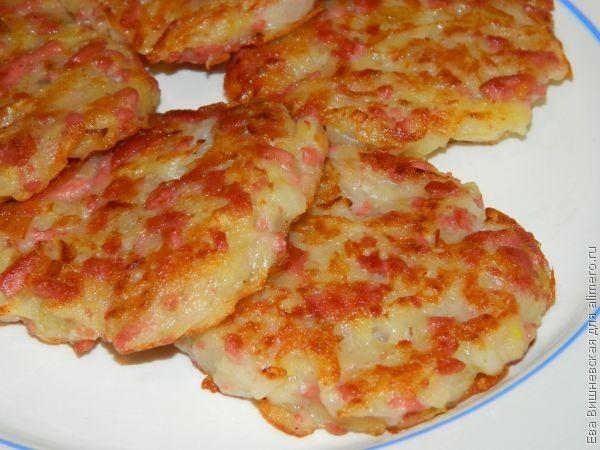 картофельные драники с колбасой пошаговый рецепт