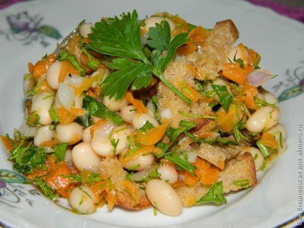 салат с фасолью