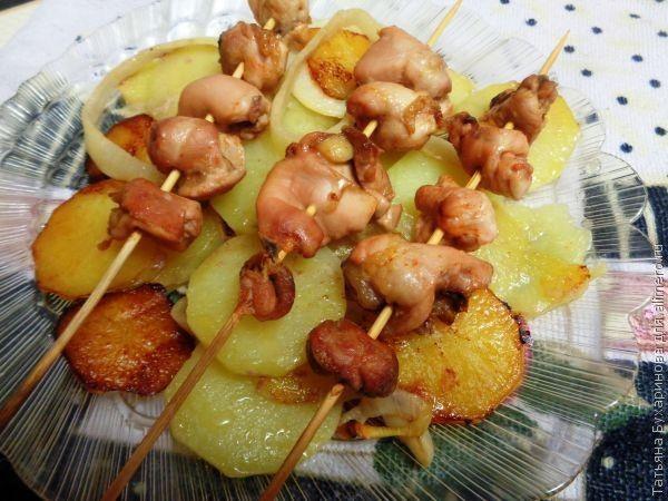 Картофель в духовке к шашлыку #1