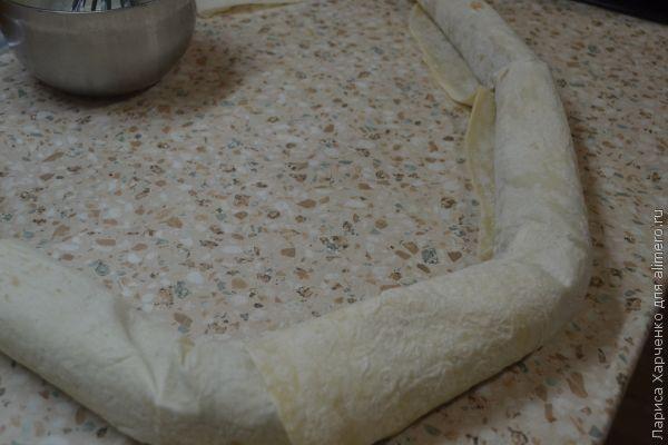 Заливной пирог из лаваша
