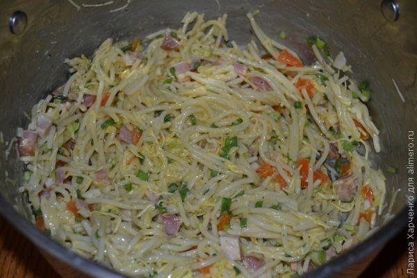 Оладьи из спагетти