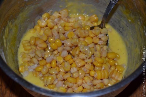 оладьи с кукурузой