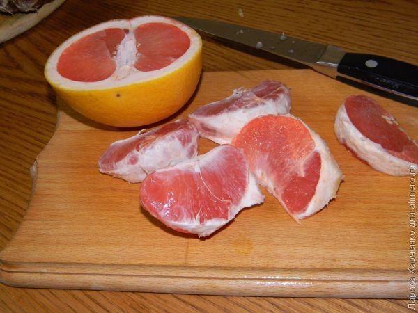 салат со щавелем и грейпфрутом