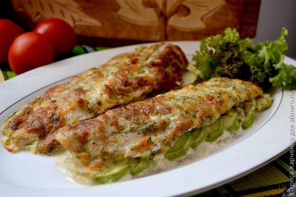 филе минтая с кабачками в духовке рецепты