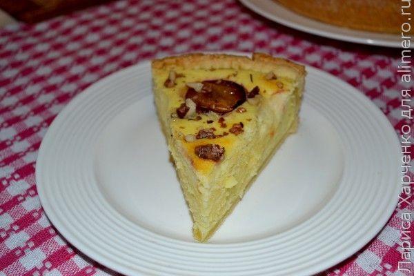 пирог со сливами