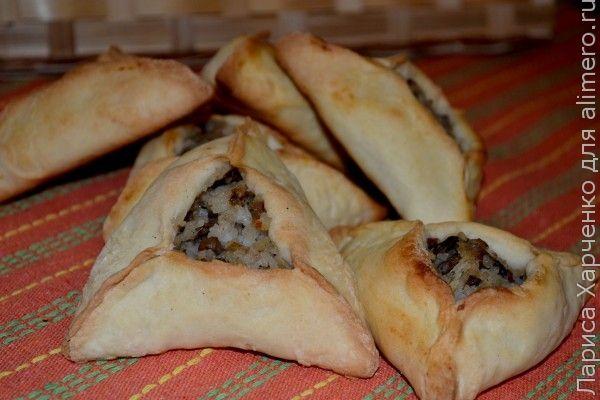 пирожки с грибами и рисом рецепт с фото