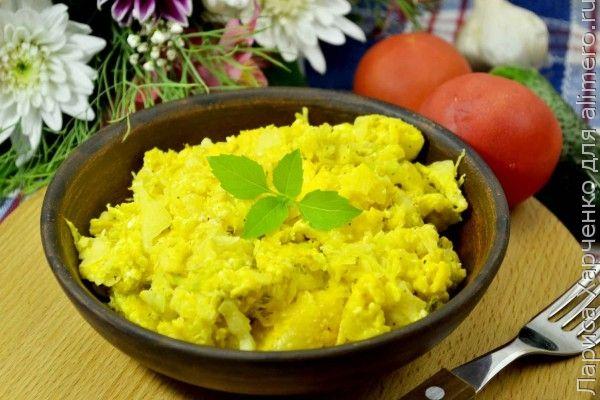 капуста с яйцом