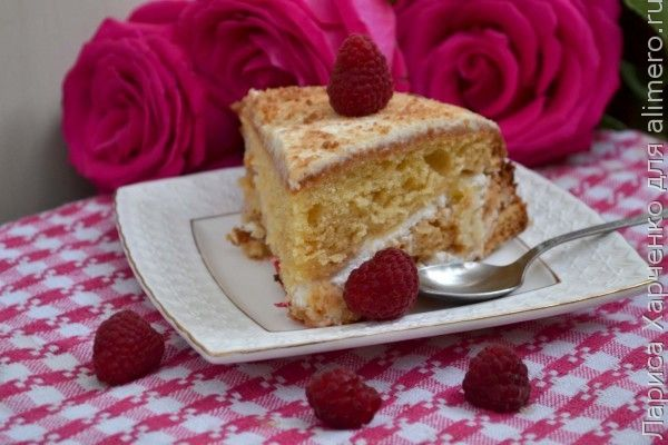 ананасовый торт со сметаной рецепт